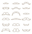 mustache collection coloring silhouette the vector image