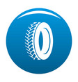one tyre icon blue vector image vector image