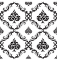 Pattern Spades Ornamental Black and White vector image vector image