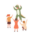 performance for children with actor wearing cute vector image vector image