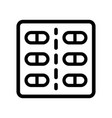 pill box outline icon vector image