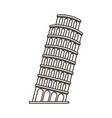 pisa tower isolated icon vector image