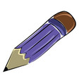 purple pencil on white background vector image vector image
