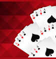 red background with playing cards vector image vector image