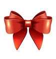 Red gift bow and ribbon vector image vector image