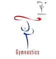 Rhythmic gymnastics emblem or symbol vector image vector image