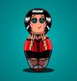 Russian doll rocker vector image