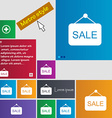Sale icon sign buttons Modern interface website vector image