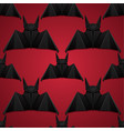 seamless pattern with 3d of origami bat on red vector image vector image