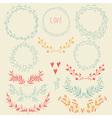 set floral design elements vector image