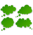 Set of paper green clouds vector image
