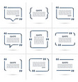 Set of quote templates isolated on white vector image vector image