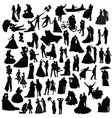 Set of wedding silhouettes