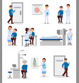 set with medical workers of ophthalmic hospital vector image vector image