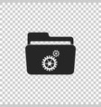 settings folder with gears icon isolated vector image vector image