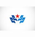 shape star business logo vector image vector image
