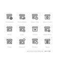 shop icons online shop sale favourite worldwide vector image