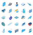 singapore icons set isometric style vector image vector image