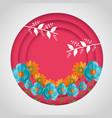 spring sale round design vector image