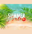 summer sale card with sea wave starfish and vector image