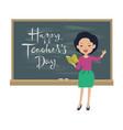 Teachers day greeting card asian teacher