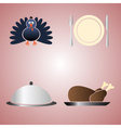 thanksgiving food color symbols eps10 vector image vector image