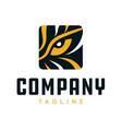 tiger eye logo vector image