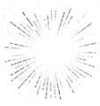 true vintage sunburst ray explosion halftone vector image