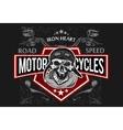 Vintage Biker Skull t-shirt prints emblems vector image vector image