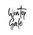 winter shopping sale lettering vector image
