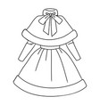 womens christmas costume with cape vector image vector image