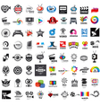 large set of logos photo and video production vector image