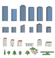 Background with city buildings vector image