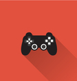 Game controller icon in minimal style vector image