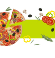 Banner with Pizza vector image