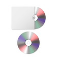 3d realistic blank cd dvd with paper cover vector image vector image