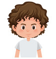 a curly hair boy character vector image vector image
