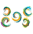 Abstract colorful sea waves swirls vector image vector image