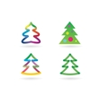 Abstract xmas tree icon set concept Logotype vector image