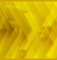 abstract yellow tech diagonal geometric vector image vector image