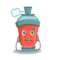 afraid aerosol spray can character cartoon vector image vector image
