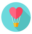 Air Balloon with Heart Circle Icon vector image