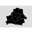 belarus map - high detailed black map with vector image