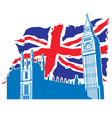 big ben london with union jack vector image