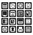 Black Hi-tech and technology equipment vector image vector image