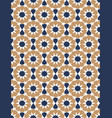 blue and brown moroccan motif tile pattern vector image