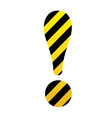 bright exclamation mark in yellow and black vector image