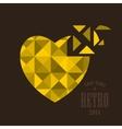 Broken golden heart vector image