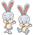 Bunny rabbit cartoon vector image vector image