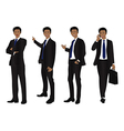 Business Man Full Body Color Black vector image vector image